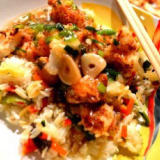 Cauliflower Manchurian ; Gobi Manchurian with Fried Rice