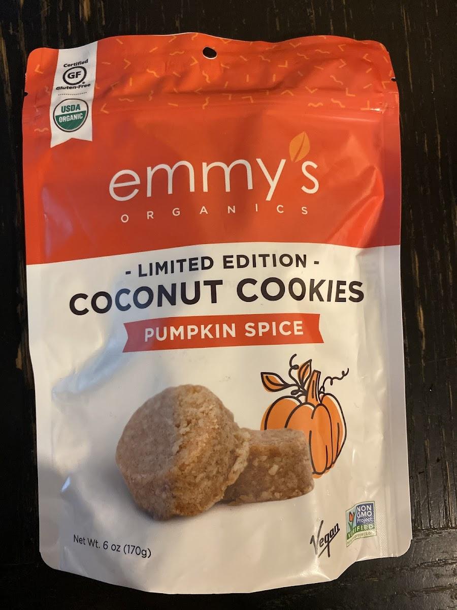 Pumpkin Spice Coconut Cookies