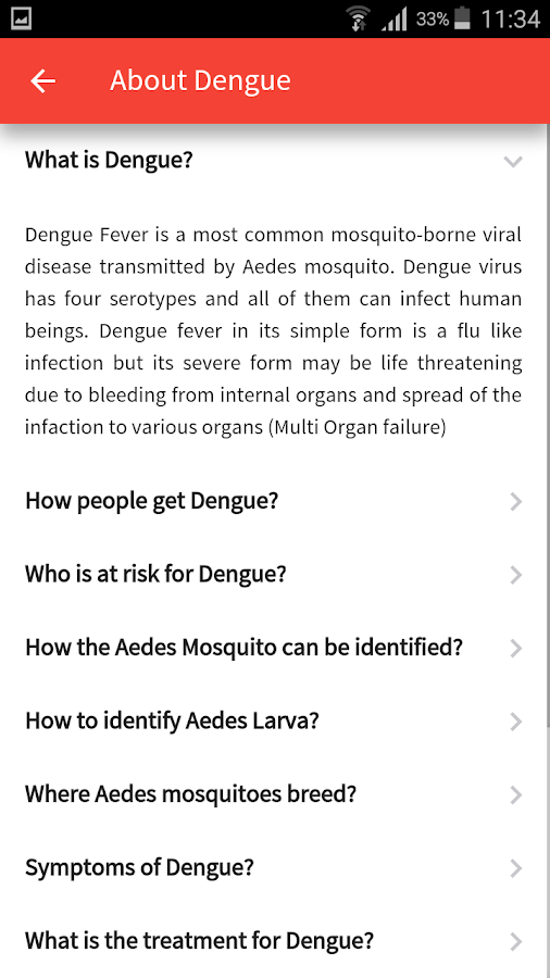 India Fights  Dengue- screenshot