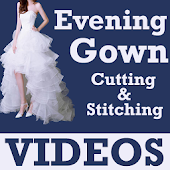 Evening Gown Cutting Stitching Video (Party Dress)