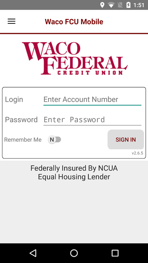 Waco FCU Mobile- screenshot