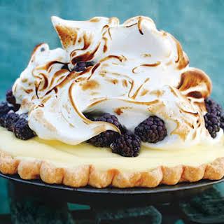 Lime & Blackberry Italian Meringue Pie.