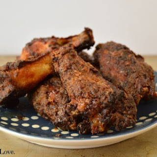 Blackened Honey Dijon Chicken Wings