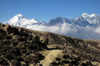 Photo: Cheminement sur la Siyarko Tangk danda (Dhaulagiri I)
