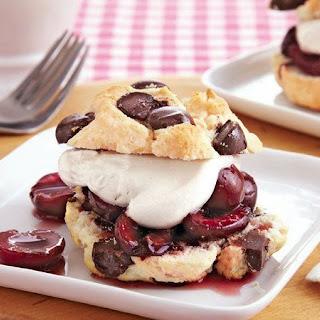 Cherry Chocolate Chunk Shortcakes.
