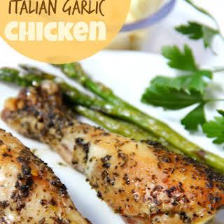 Crock Pot Italian Garlic Chicken.