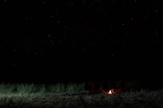 Photo: the campfire on a particularly clear night,