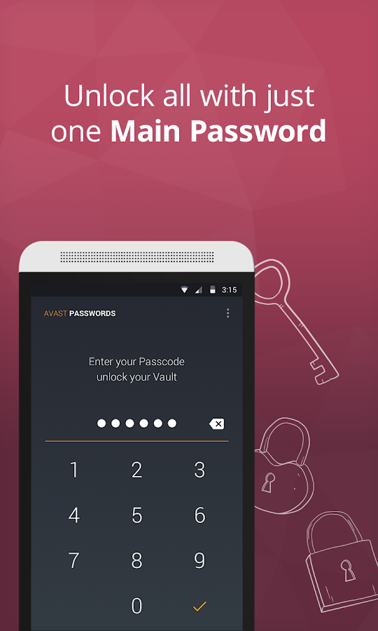 Avast Passwords- screenshot