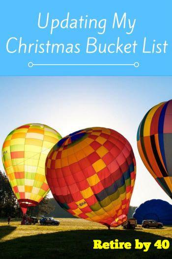 Updating My Christmas Bucket List
