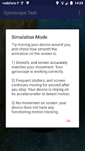 Gyroscope Test Screenshot