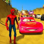 Superheroes Impossible Car Stunt Racing Games 1.3