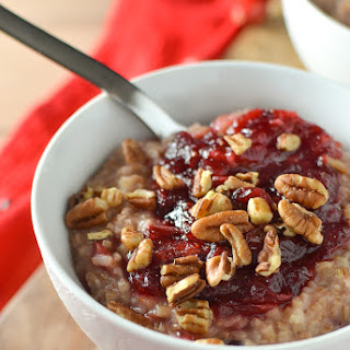 Cranberry Maple Steel Cut Oatmeal