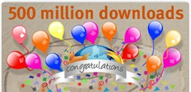 Firefox 500 Million Downloads