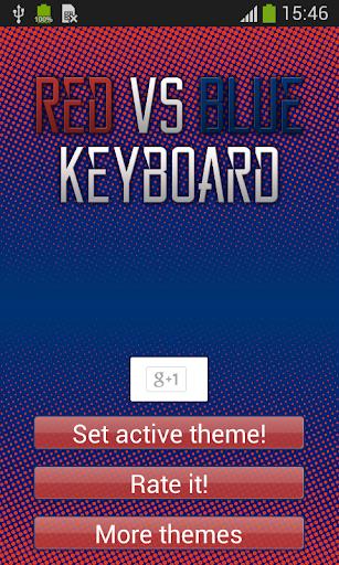 無料个人化AppのブルーキーボードのテーマVSレッド|記事Game