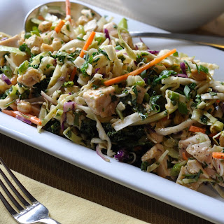 Asian Chicken, Cabbage and Kale Salad