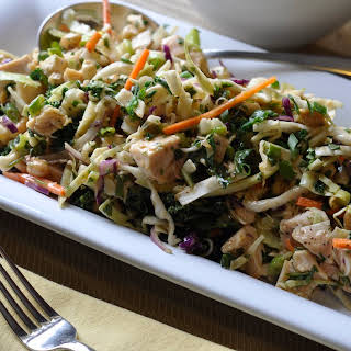 Asian Chicken, Cabbage and Kale Salad.