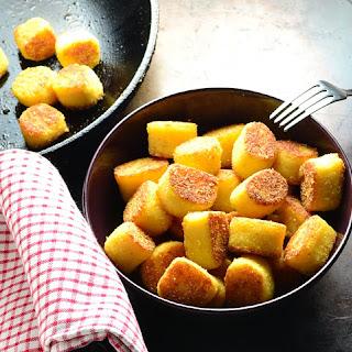 Potato Dumplings with Polenta.