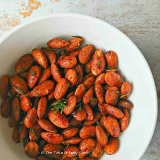 Roasted Almonds With Rosemary.