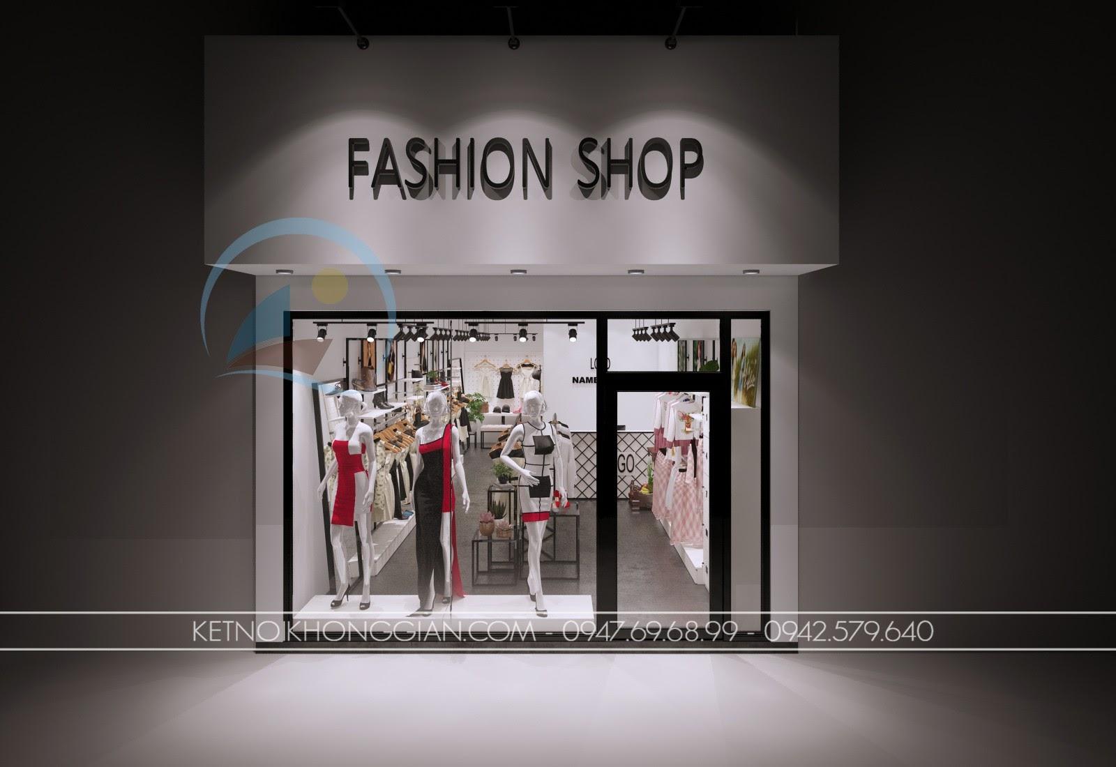thiết kế shop thời trang giá rẻ đẹp