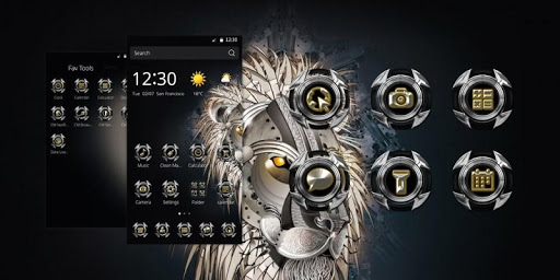 Abstract Lion Theme