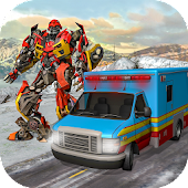 Real Robot 911 Ambulance Robot Transformation Game