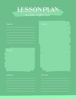 English Class Lessons - Lesson Plan item
