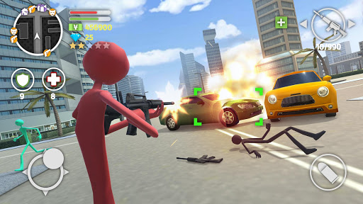 Grand Stickman Auto V 1.08 screenshots 2
