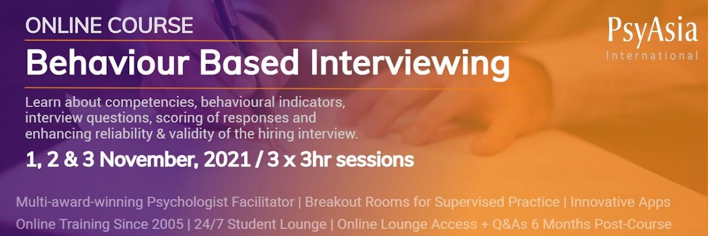 Behaviour-based Interviewing Live Online Workshop