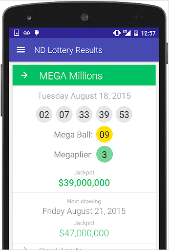 ND Lottery Results