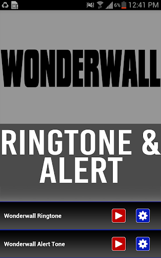 Wonderwall Ringtone and Alert