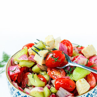 Tomato Cucumber and Onion Salad.