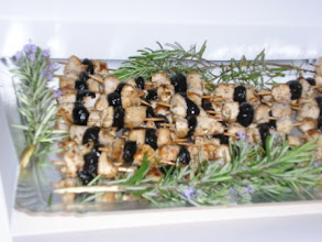 Photo: Brochette de poulet aux olives