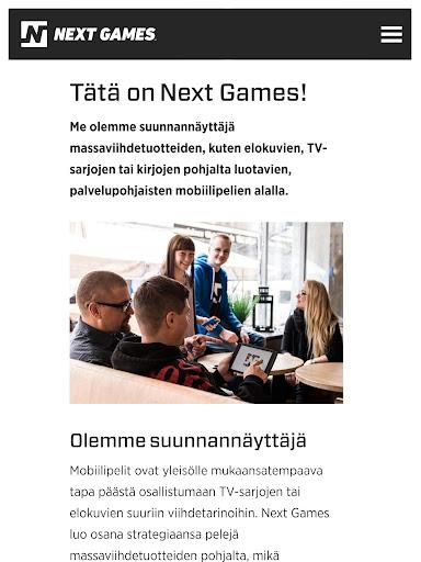 Next Games yhtiönä screenshot 1