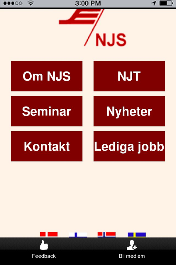 NJS app- screenshot