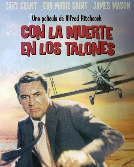 Con la muerte en los talones (1959, Alfred Hitchcock)