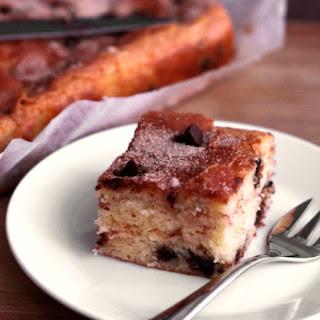 Chocolate Chip Cinnamon Swirl Sour Cream Cake