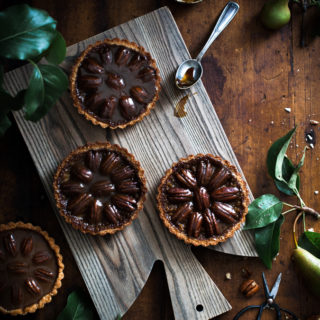 Pecan + Chocolate & Caramel Coconut Shortbread Tarts