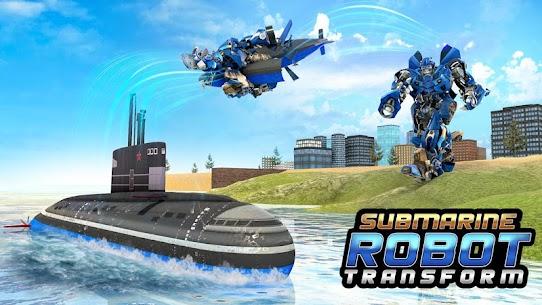 Submarine Robot Transform War: Robot Hero Games 3