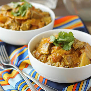 Spicy Beef and Potato Curry.