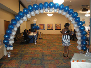 Photo: Tiara arch used as entrance focal point