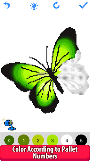 butterfly color by number - pixel art sandbox draw screenshot 3