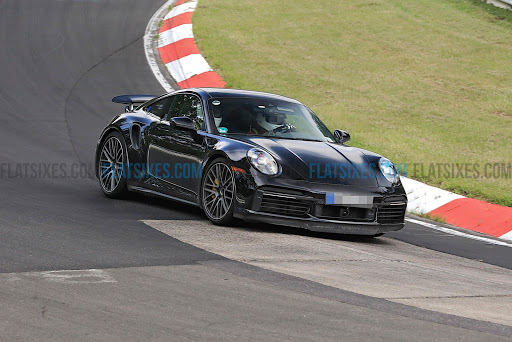 Spied: Porsche 911 Turbo electrified prototype at the Nürburgring