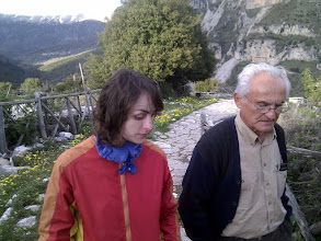Photo: evening walk and chat with Vikos local herb doctor, mountain expert and shop keeper Kostas