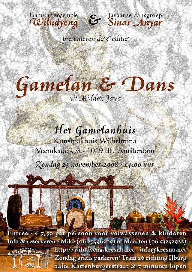 3e editie Concert Gamelan en Dans in het Gamelanhuis