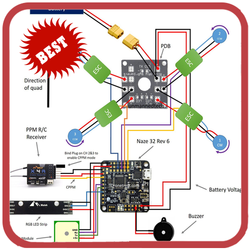 drone wiring diagram ESC to BEC Wiring-Diagram