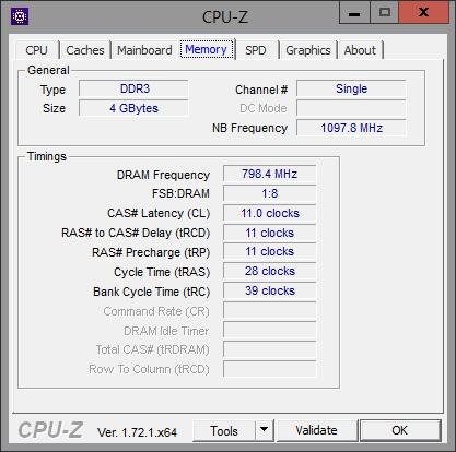 CPU-Z Memory 4GB