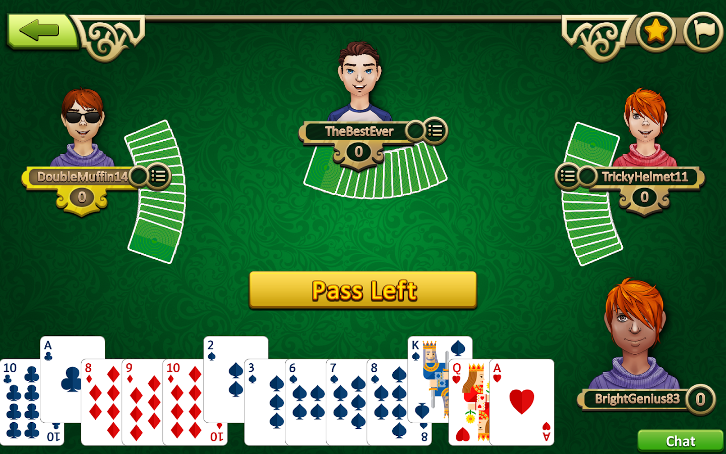 Play Hearts Card Game Online
