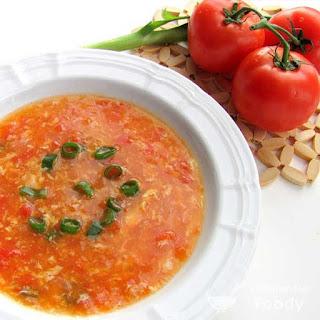 Description Egg drop soup with Tomato (Canh Ca Chua Trung)