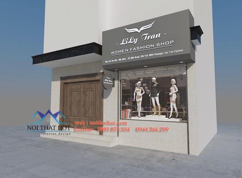thiết kế shop thời trang nữ lily 1