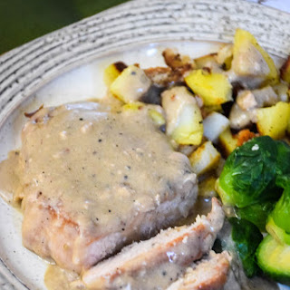 Braised Pork Chops with Country Gravy.